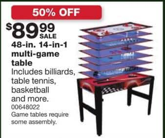 Sears black friday 48 inch 14 in 1 multi game table for for Supreme 99 table game