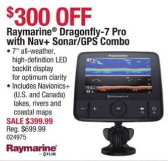 cabelas black friday: raymarine dragonfly-7 pro w/ nav+ sonar/gps, Fish Finder