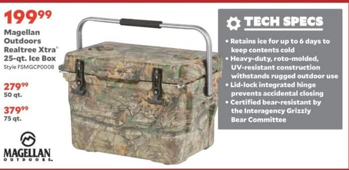 Academy Sports + Outdoors Black Friday: Magellan Outdoors Realtree Xtra 50-qt or 75-qt. Ice Box for $279.99 - $379.99