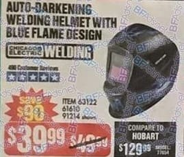 Harbor Freight Black Friday: Chicago Electric Auto-Darkening Welding Helmet w/ Blue Flame Design for $39.99