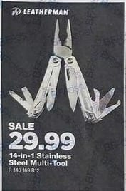 True Value Black Friday: Leatherman 14-in-1 Stainless Steel Multi-Tool for $29.99