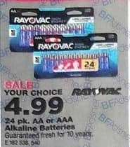 True Value Black Friday: RayOVac 24-pk. AA or AAA Alkaline Batteries, Your Choice for $4.99