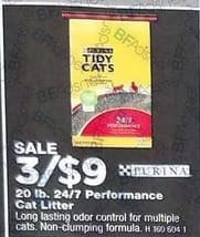 True Value Black Friday: Purina 20 lb. 24/7 Performance Cat Litter (3) for $9.00