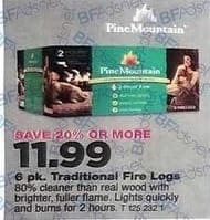 True Value Black Friday: Pine Mountain 6-pk. Traditional Fire Logs for $11.99
