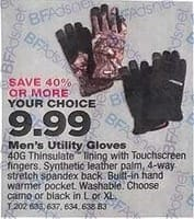 True Value Black Friday: Select Men's Utility Gloves for $9.99