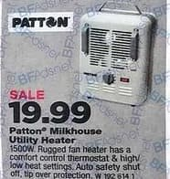 True Value Black Friday: Patton Milkhouse Utility Heater for $19.99