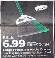 True Value Black Friday: Large Precision Angle Broom for $6.99