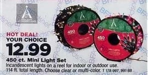 True Value Black Friday: Multi-color or Clear 450-ct. Mini Light Set, Your Choice for $12.99