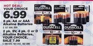 True Value Black Friday: Duracell 2-pk, 9V, 4pk. C or D Alkaline Batteries, Your Choice for $6.99