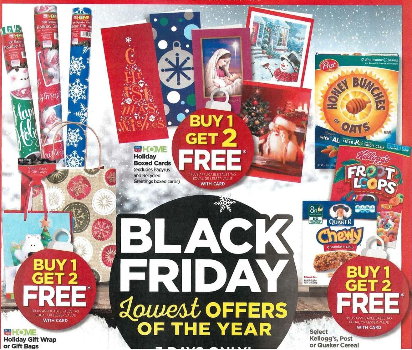 Rite Aid Black Friday: Holiday Gift Wrap or Gift Bags, Your Choice - B1G2 Free