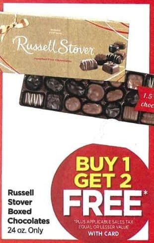 Rite Aid Black Friday: Russell Stover Boxed Chocolates - B1G2 w/Card