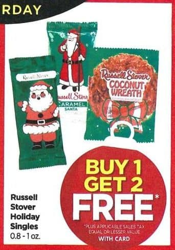 Rite Aid Black Friday: Russell Stover Holiday Singles - B1G2 Free w/Card
