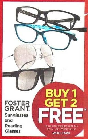 Rite Aid Black Friday: Foster Grant Sunglasses - B1G2 Free w/Card