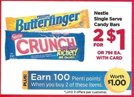 Rite Aid Black Friday: Select Candy Bars (2) + 100 PP for $1.00