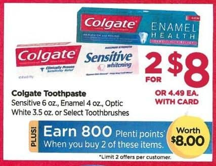 Rite Aid Black Friday: Colgate Toothpast (2) + 800 PP for $8.00