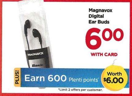 Rite Aid Black Friday: Magnavox Digital Earbuds + 600 PP - $6.00 w/card