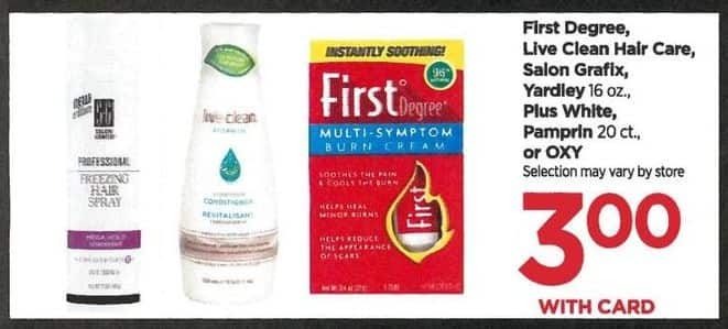 Rite Aid Black Friday: Live Clean Hair Care, First Degree and Select Others, Your Choice - $3.00 w/card