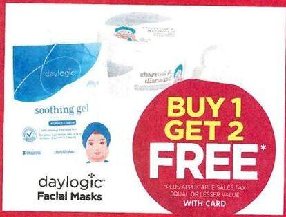 Rite Aid Black Friday: Daylogic Facial Masks - B1G2 Free