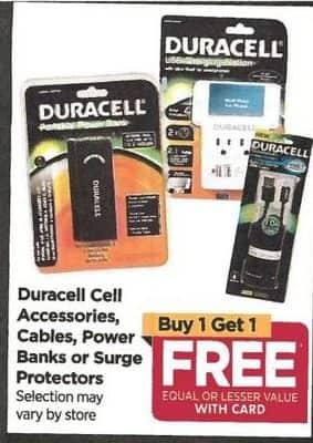 Rite Aid Black Friday: Duracell Accessories - B1G1 Free w/Card