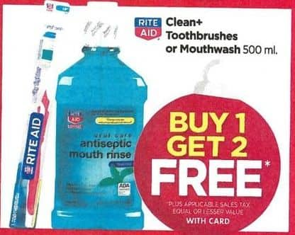 Rite Aid Black Friday: Select Toothbrushes or Mouthwash - B1G2 Free