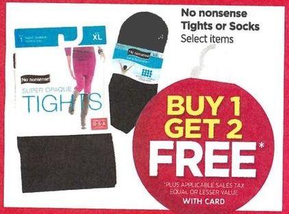 Rite Aid Black Friday: No Nonsense Tights or Socks, Your Choice - B1G2 Free