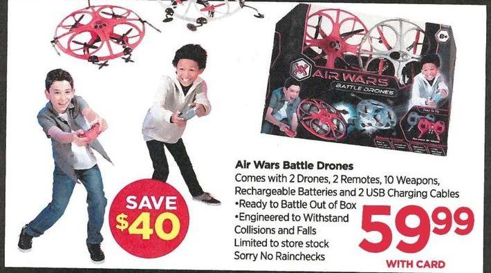 Rite Aid Black Friday: Air Wars Battle Drones - $59.99 w/Card