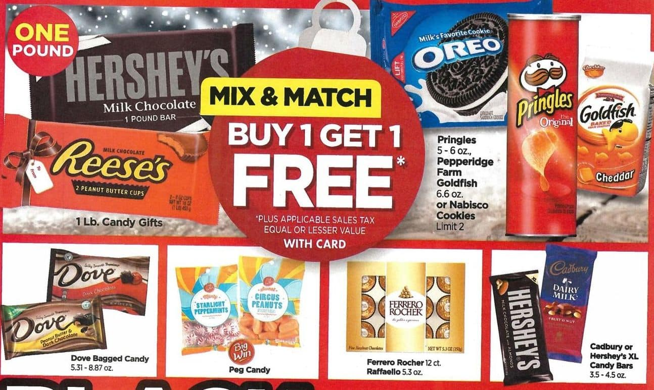 Rite Aid Black Friday: Mix & Match Select Candies and Snacks, Your Choice - B1G1 Free