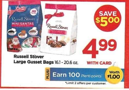 Rite Aid Black Friday: Russell Stover Large Bags + 100 PP - $4.99 w/card