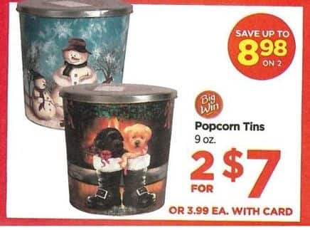 Rite Aid Black Friday: Select Popcorn Tins (2) for $7.00