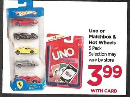 Rite Aid Black Friday: Hot Wheels 5-pk. Cards - $3.99 w/Card
