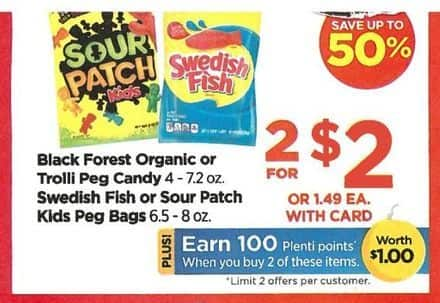 Rite Aid Black Friday: Black Forest Organic Peg Candy, Troll Peg Candy and More Select Candies (2) + 100 PP for $2.00