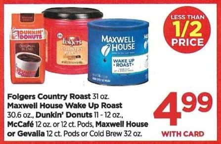 Rite Aid Black Friday: Dunkin Donuts Coffee, McCafe Coffee, and More - $4.99 w/card
