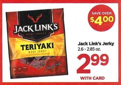 Rite Aid Black Friday: Jerk Link's Jerky - $2.99 w/card