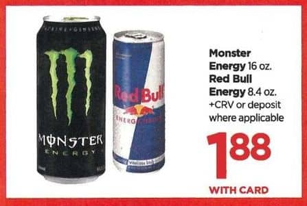 Rite Aid Black Friday: Monster Energy Drink - $1.88 w/card