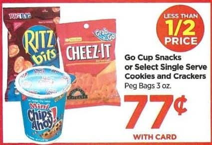 Rite Aid Black Friday: Single Serve Cookies, Single Serve Crackers and More - $0.77 w/card