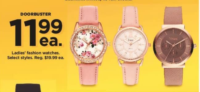 Kohl's Black Friday: Ladies' Fashion Watches, Select Styles for $11.99