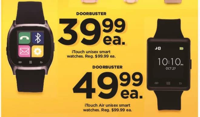 Kohl's Black Friday: iTouch Unisex Smart Watches for $39.99