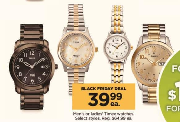 Kohl's Black Friday: Men's or Ladies' Timex Watches, Select Styles for $39.99