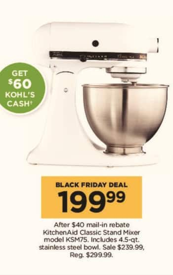 Small Kitchen Aid Black Friday