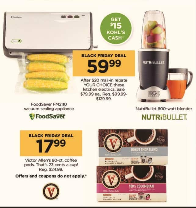 Kohl's Black Friday: Victor Allen's 80-ct. Coffee Pods for $17.99