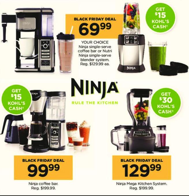 Kohl's Black Friday: Ninja Coffee Bar + $15 Kohl's Cash for $99.99