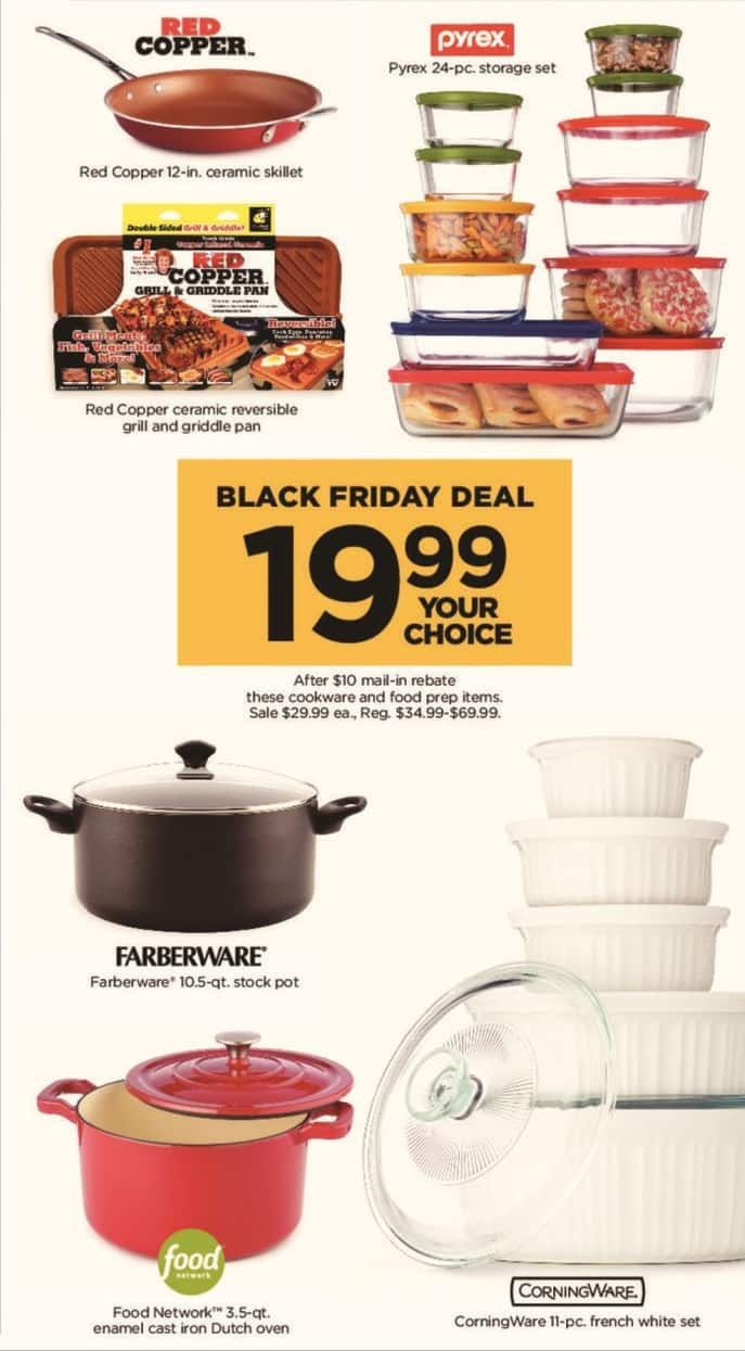 Kohl's Black Friday: Red Copper Ceramic Reversible Grill and Griddle Pan for $19.99 after $10 rebate