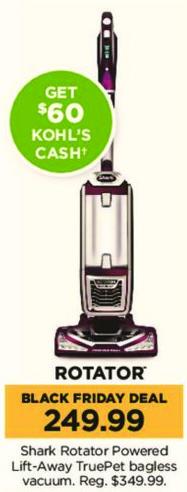 Kohl's Black Friday: Shark Rotator Powered Lift-Away TruePet Bagless Vacuum + $60 Kohl's Cash for $249.99