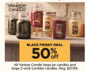 Kohl's Black Friday: All Yankee Candle Large Jar Candles and Large 2-wick Tumbler Candles - 50% Off