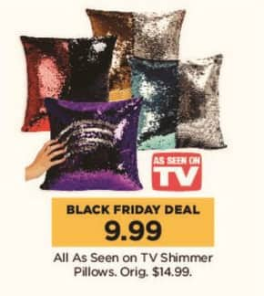Kohl's Black Friday: All As Seen on TV Shimmer Pillows for $9.99