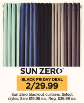 Kohl's Black Friday: (2) Sun Zero Blackout Curtains, Select Styles for $29.99