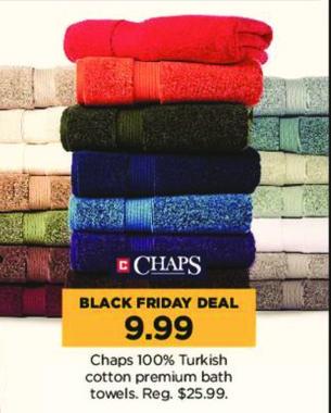 Kohl's Black Friday: Chaps 100% Turkish Cotton Premium Bath Towels for $9.99