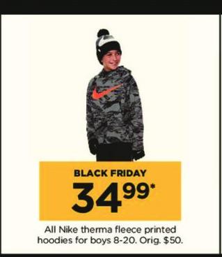Kohl's Black Friday: All Nike Boys' Therma Fleece Printed Hoodies for $34.99