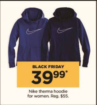 Kohl's Black Friday: Nike Women's Therma Hoodie for $39.99