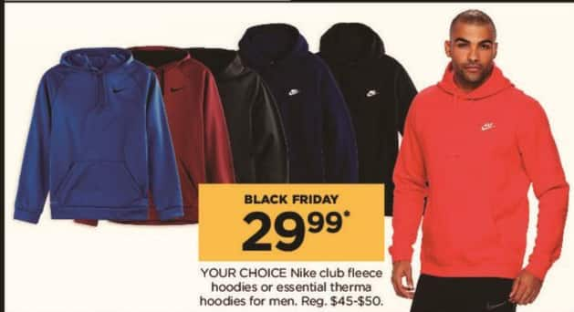 Kohl's Black Friday: Nike Men's Club Fleece Hoodies or Essential Therma Hoodies, Your Choice for $29.99